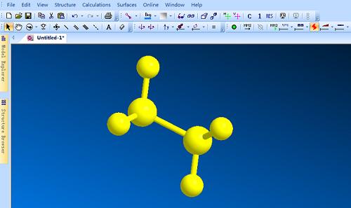 运用Shift键选择ChemBio 3D结构