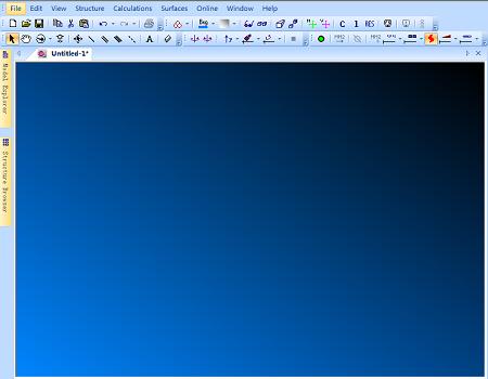 ChemBio3D主绘制窗口