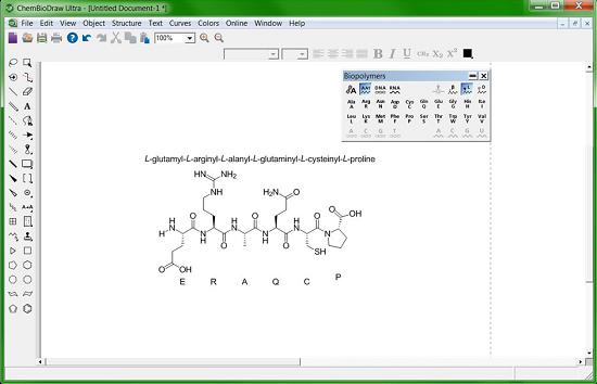 准确绘制生物聚合物(包括氨基酸、肽、DNA 及 RNA 序列)