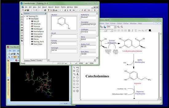 绘制化学结构、反应式,关联结构与性质信息,并实现3D显示