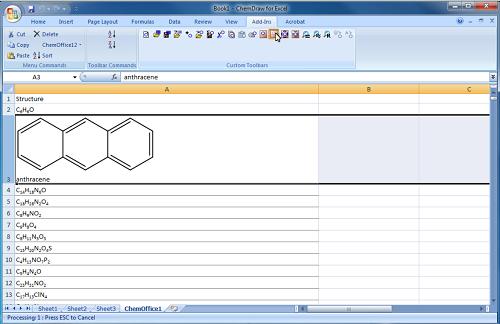 导入ChemDraw结构效果图