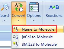 使用Convert Name to Molecule命令
