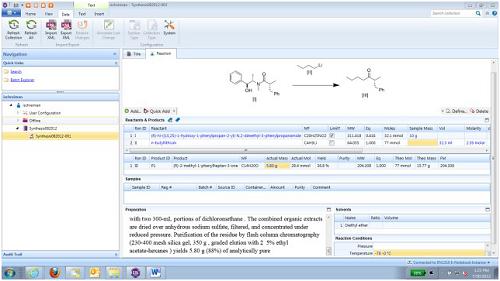 E-Notebook绘制反应物