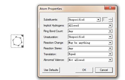 Atom Properties对话框