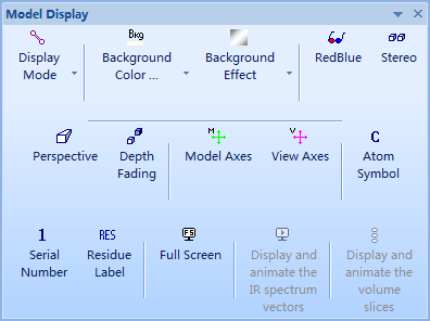 ChemBio3D Ultra 14.0显示工具栏