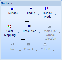 ChemBio3D Ultra 14.0曲面工具栏