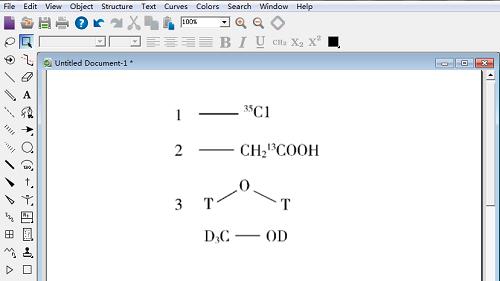 实例讲解:ChemDraw同位素和元素