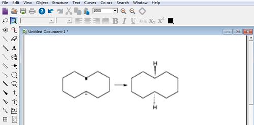 实例讲解:ChemDraw H点和H划