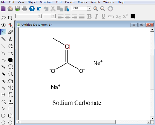 ChemDraw Professional 15绘制碳酸钠结构