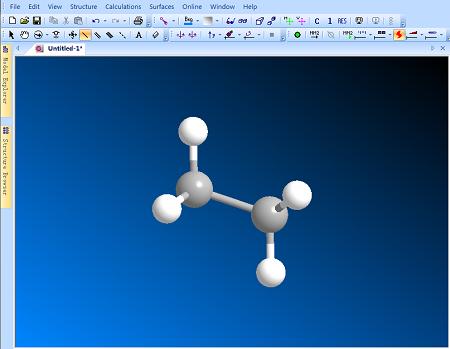 ChemBio3D球棍结构模型