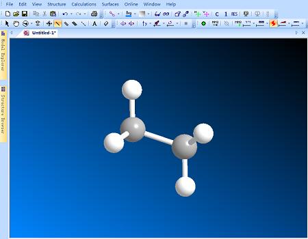 ChemBio3D圆柱键结构模型