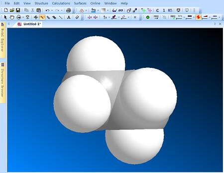 ChemBio3D比例结构模型
