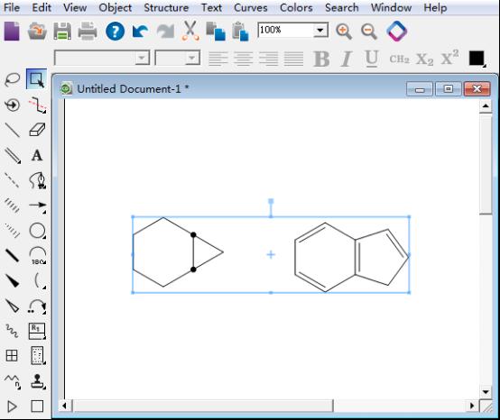 组合后的化学结构