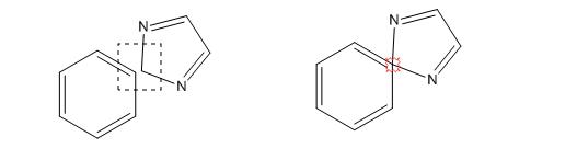 ChemDraw两个化学结构以原子连接