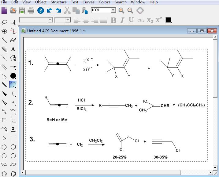 三种联烯加成反应式