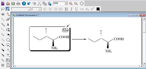 Abs 标旗指示所绘制的准确立体异构体