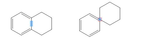 ChemDraw苯环和环己烷环分别以键和原子融合