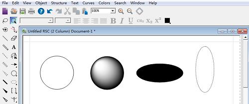 ChemBioDraw绘制圆和椭圆图形