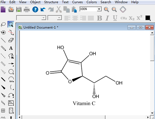 ChemDraw Prime 15绘制的维生素C