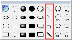 ChemBioDraw图形元素中的线工具