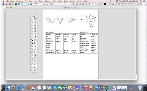 ChemDraw Professional for Mac 15主界面