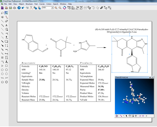 ChemDraw Professional 15主界面