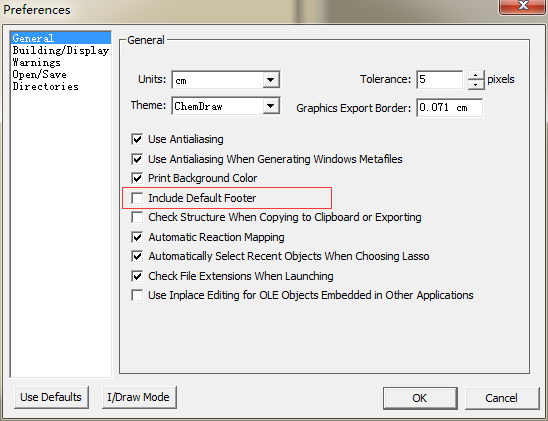 ChemDraw添加脚注复选框