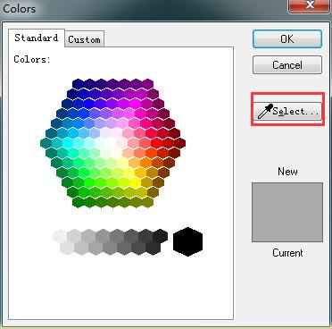 修改原子颜色属性