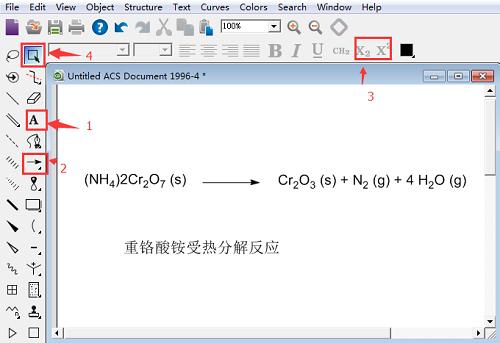 ChemDraw绘制重铬酸钠反应