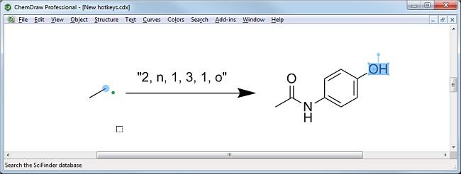 ChemDraw新的热键和快捷方式