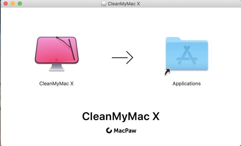 将CleanMyMac X放入应用程序界面