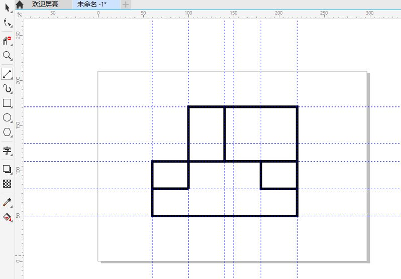 图8:绘制房间布局