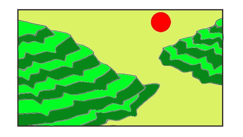 CorelDRAW使用液态涂抹简单绘制梯田