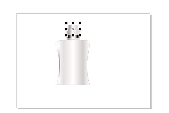 图11:复制并调整瓶盖大小