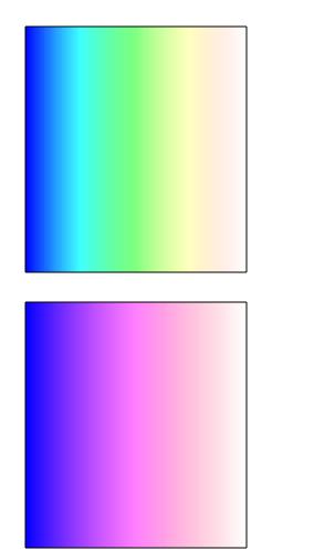 图9:逆时针混合和顺时针混合的效果