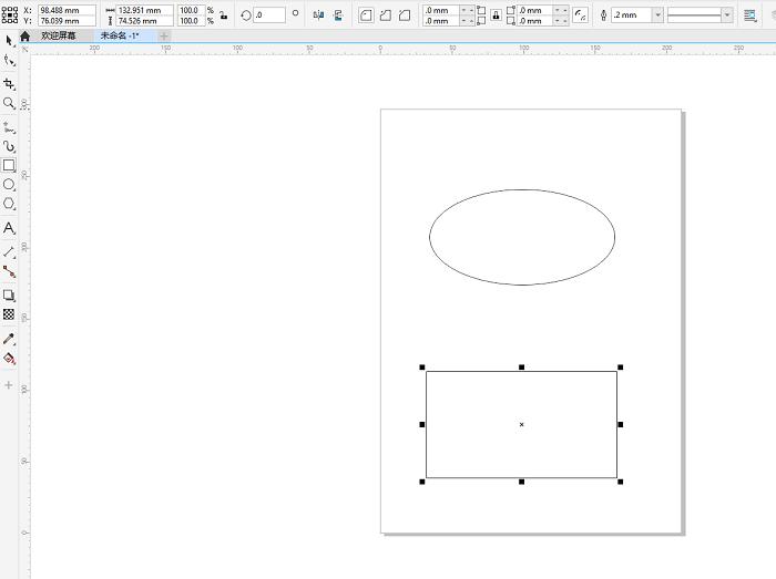 创建演示用椭圆和矩形