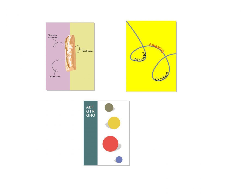 图1:左右分割型、中轴型、曲线型