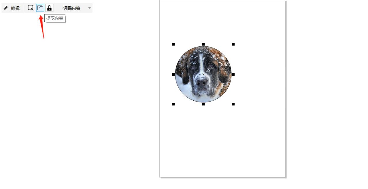 """图7:""""提取内容""""功能位置"""