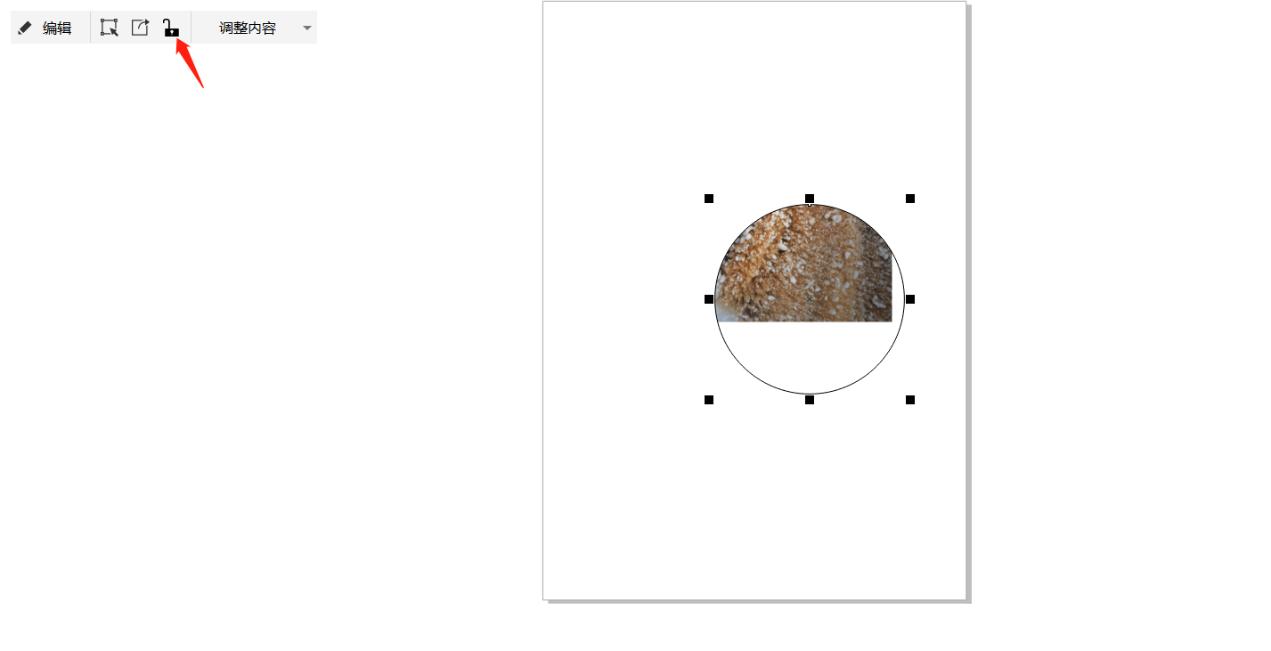 """图8:改变""""锁定内容""""只能移动图形或图片素材"""