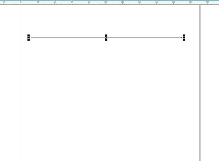 CorelDRAW中按Ctrl键平移鼠标画出直线