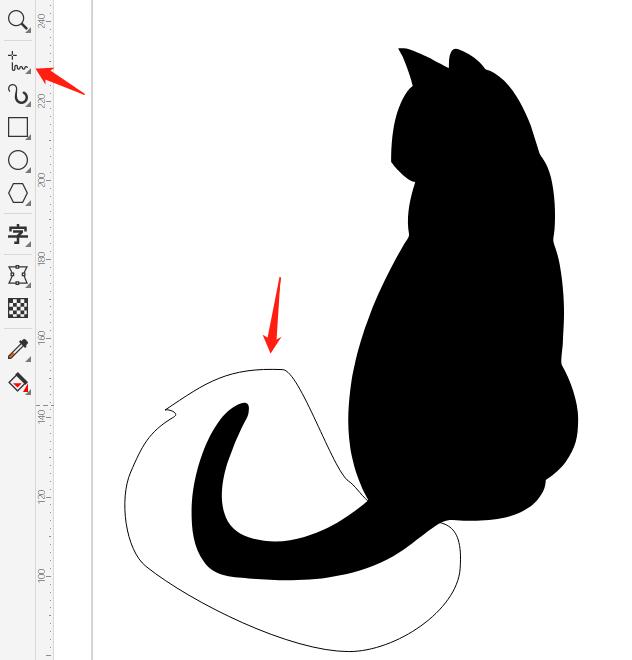 图2:圈住尾巴