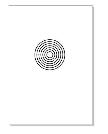 图7:完成等距同心圆的绘制