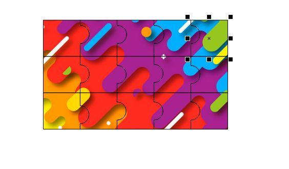图13:完成图片拼图的制作