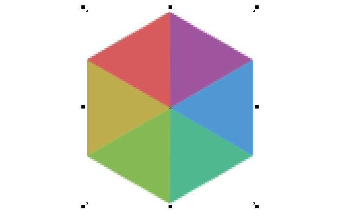 正方形像素扭曲效果