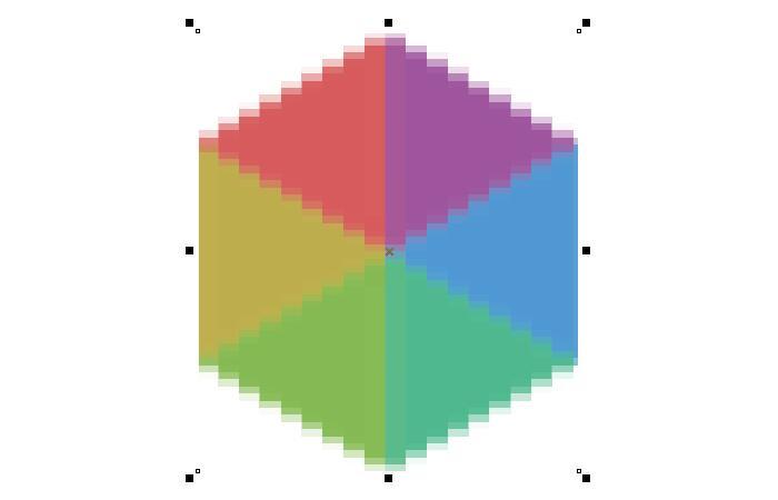 正方形像素效果