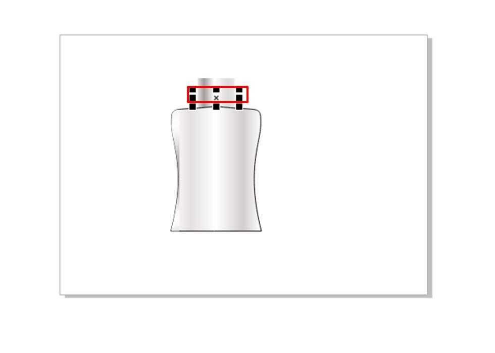 图7:复制并调整瓶盖大小