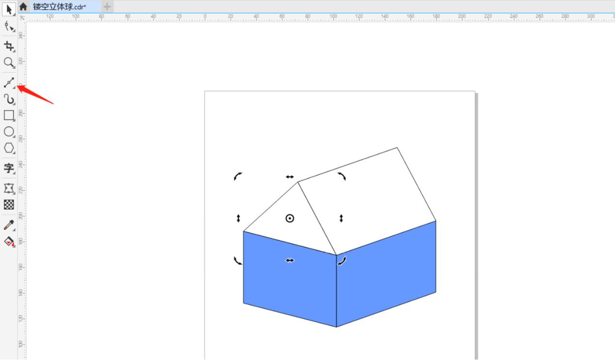 图4:牛奶包装盒的基本轮廓