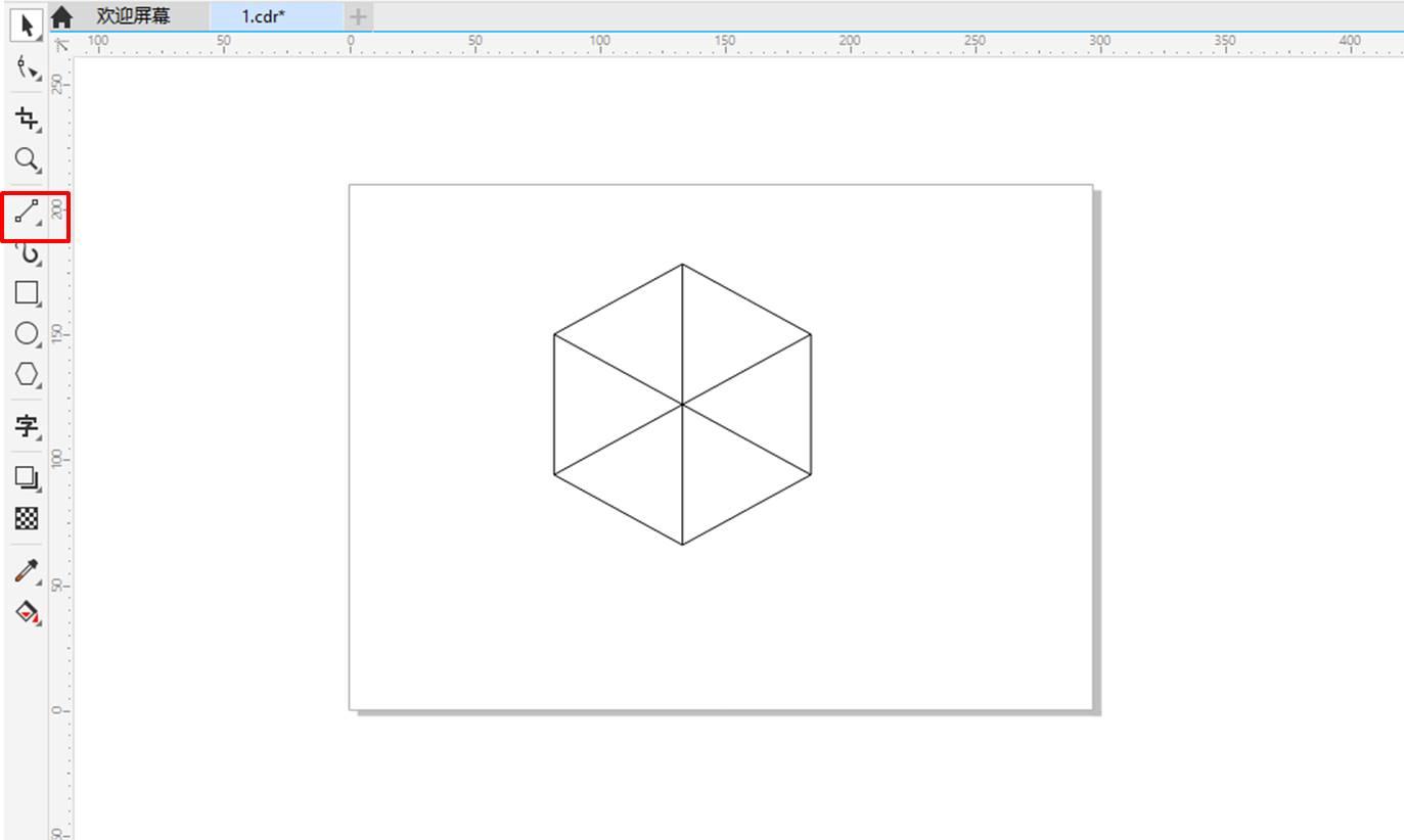 图3:绘制2点线