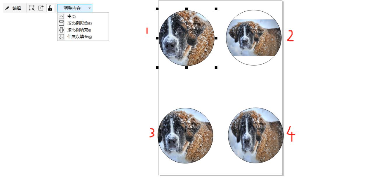 图9:四种调整方法的效果