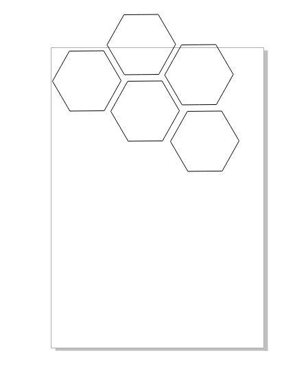 图3:复制并排列六边形